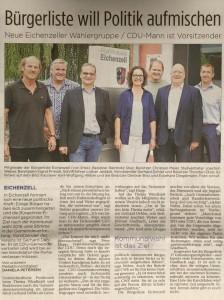 BLE in der Fuldaer Zeitung am 7.8.2015