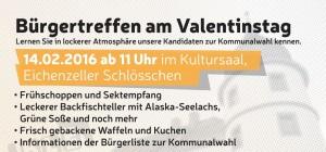 Bürgertreffen zum Valentinstag am 14. Februar