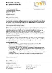 Anfrage Status Geschwindigkeitsreduzierung B27