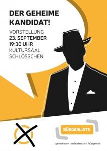 Einladung zur Vorstellung des Bürgermeisterkandidaten der Bürgerliste Eichenzell
