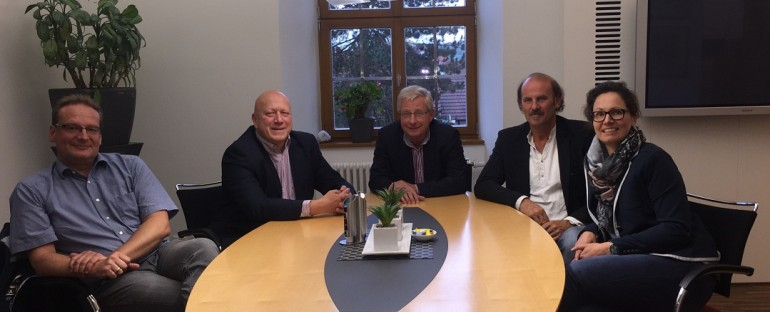 Bürgerliste Eichenzell bei Bürgermeister Dieter Kolb  zum Gedankenaustausch